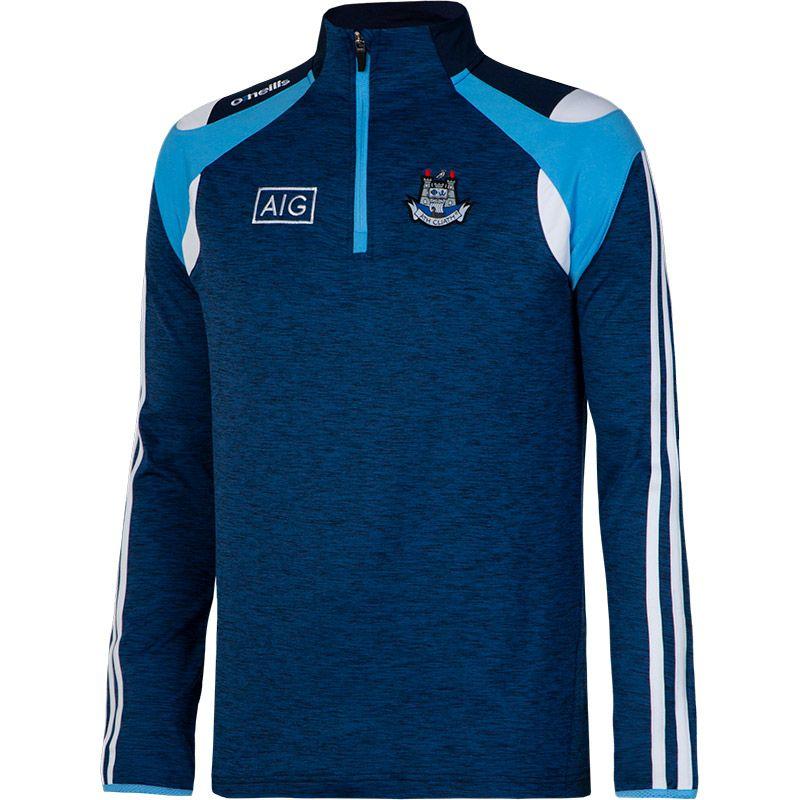 Dublin GAA Malone 3S Brushed Half Zip Top (Mel Tonal Marine/Sky Blue/White)