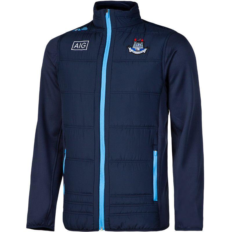 Dublin GAA Kids' Malone Padded Jacket Marine / Sky / White