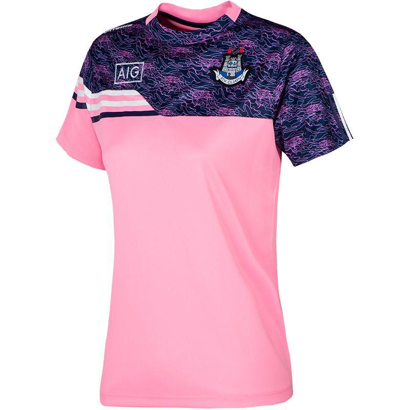 Dublin GAA Women's Nevis  T-Shirt Pink / Marine / White
