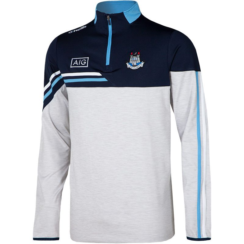 Dublin GAA Men's Nevis Brushed Half Zip Top White / Marine / White