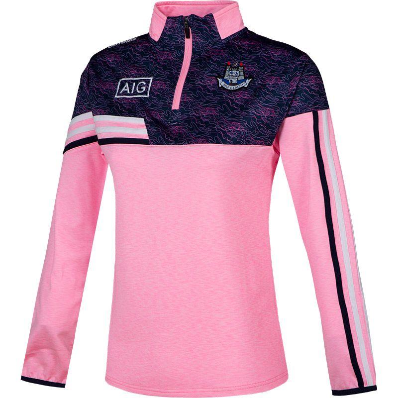 Dublin GAA Women's Nevis  Brushed Half Zip Pink / White / Marine
