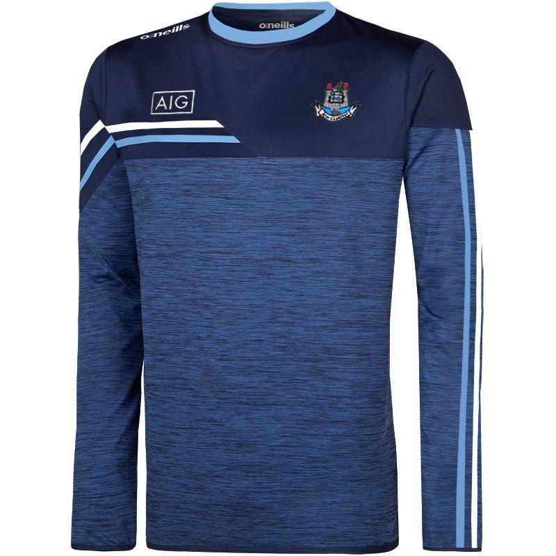 Dublin GAA Kids' Nevis Brushed Sweatshirt Marine / White