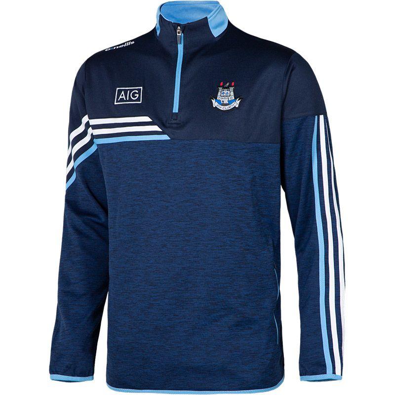 Dublin GAA Kids' Nevis Squad Half Zip Top Marine / White