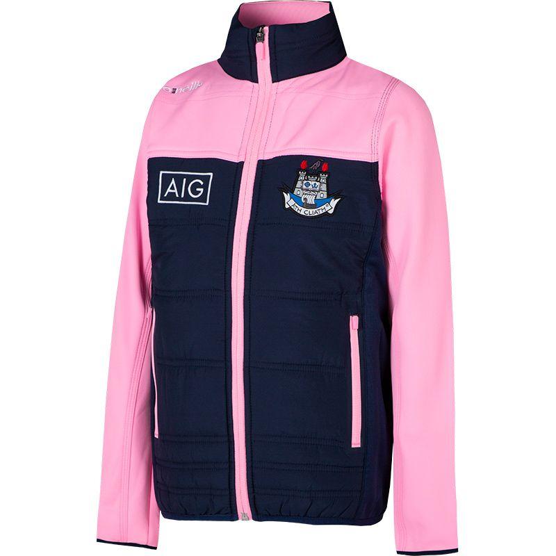Dublin GAA Kids' Nevis Jacket Marine / Pink