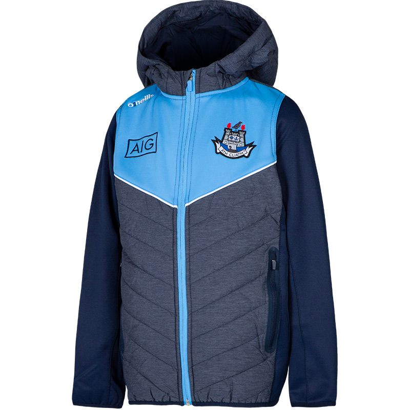 Dublin GAA Kids' Nevis Lightweight Padded Jacket Marine / Sky / Marine