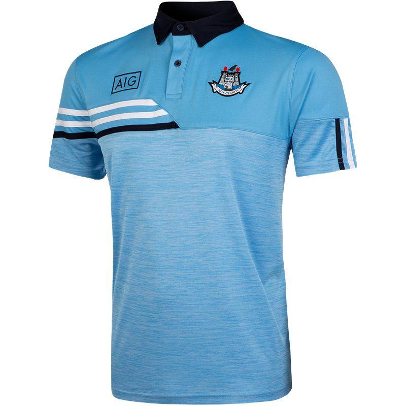 Dublin GAA Men's Nevis Polo Shirt Sky / White