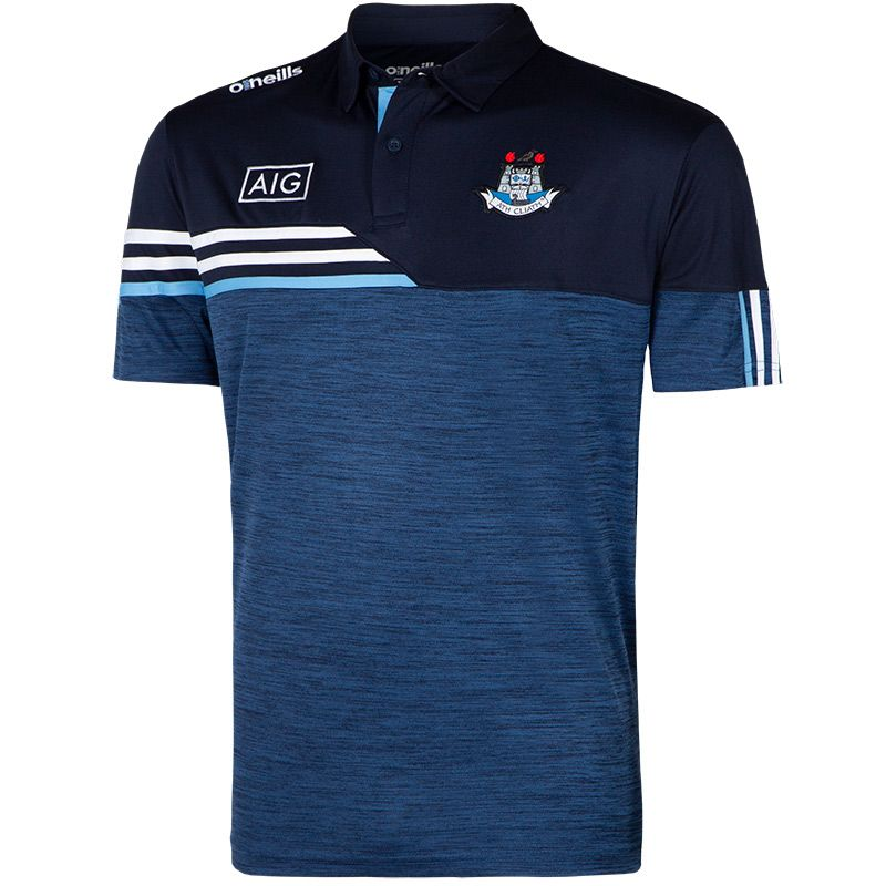 Dublin GAA Men's Nevis Polo Shirt Marine / White