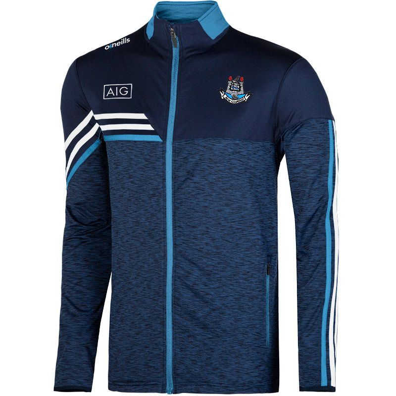 Dublin GAA Kids' Nevis Brushed Full Zip Top Marine / White / Sky