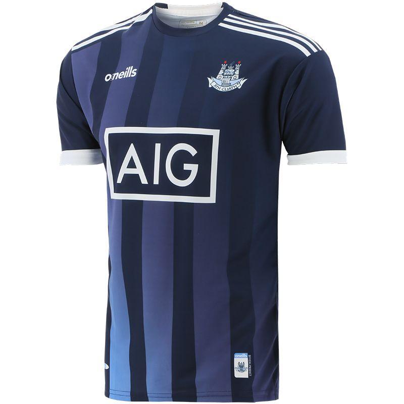 Dublin GAA Player Fit Short Sleeve Training Top Marine / Sky