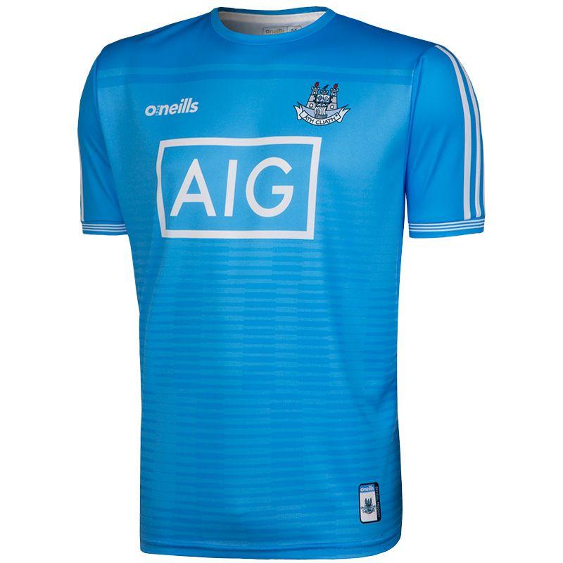 Dublin GAA Training Short Sleeve Top (Sky)