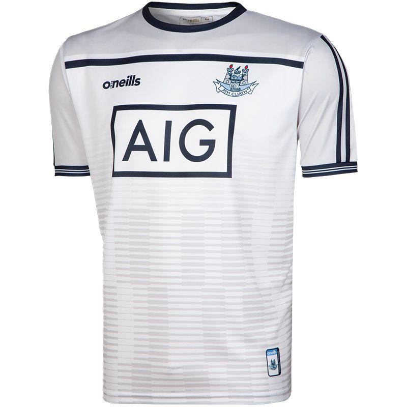 Dublin GAA Training 2-Stripe Short Sleeve Top (White) (Kids)