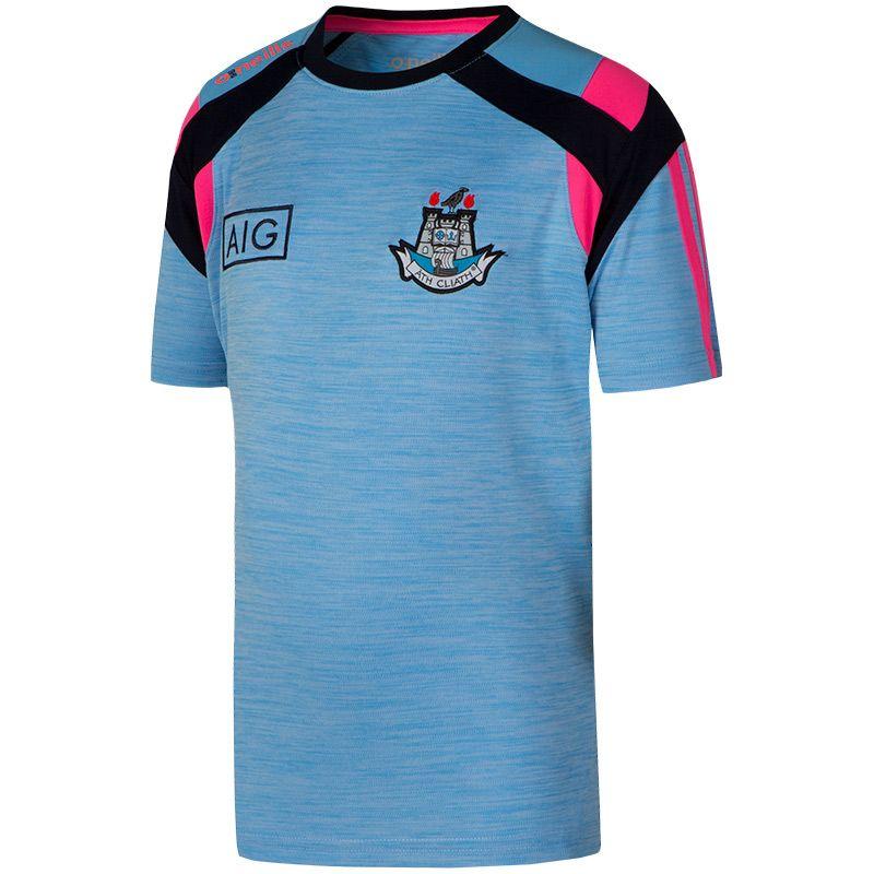 Dublin GAA Kid' Malone 3 Stripe T-Shirt Sky / Pink / Marine