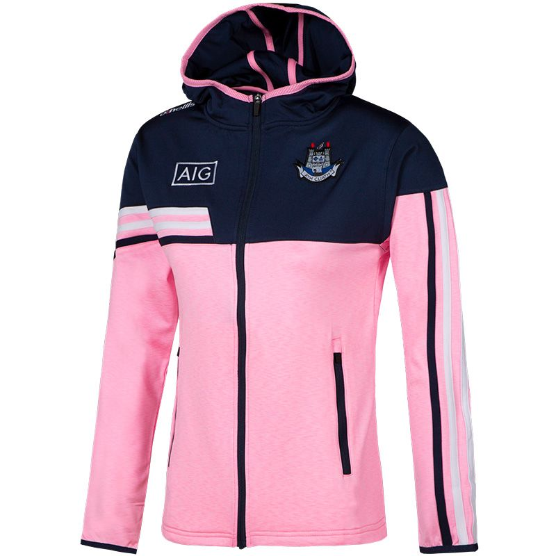 Dublin GAA Women's Nevis  Brushed Full-Zip Hoody Pink / Marine / White