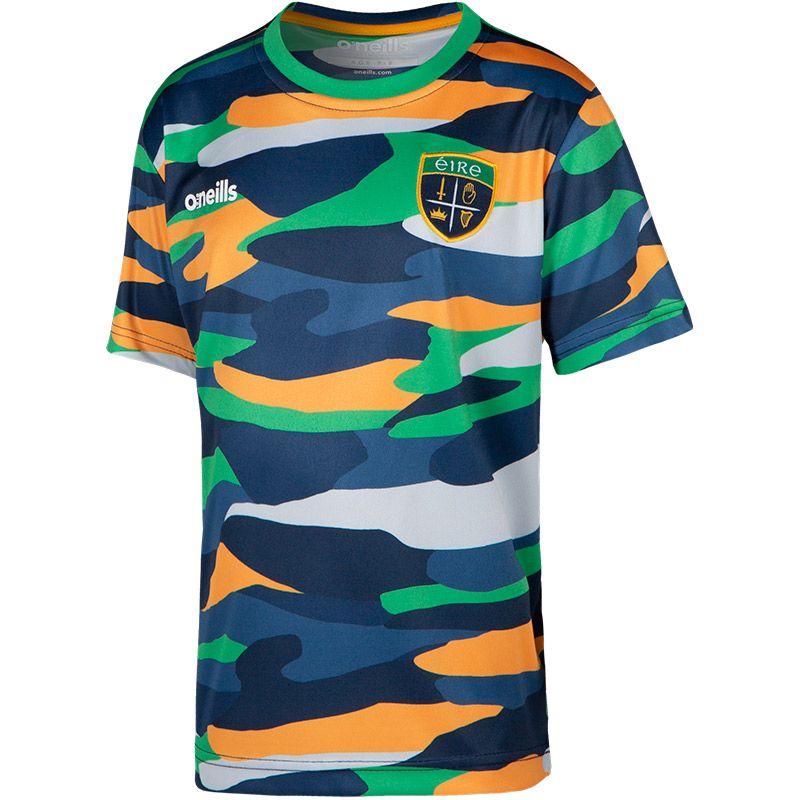 Kids' Eire Bobby T-Shirt Marine / Green / Amber
