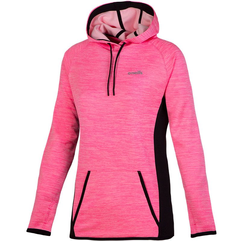 Eliana Proformance Fleece Hooded Top (Melange Sugar Pink/Black)