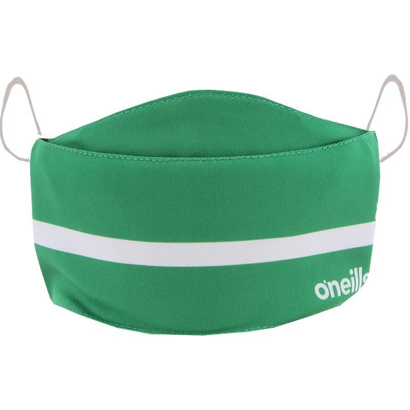 Kids' Reusable Face Mask Green / White