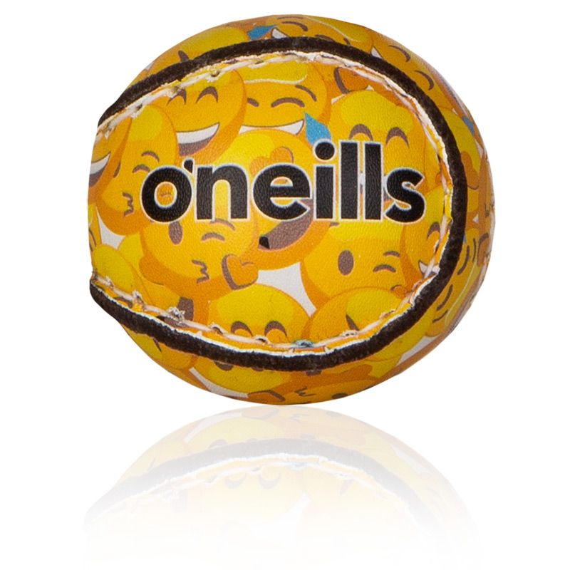 County Kidz Gaelic Hurling Ball (Yellow Emoji)