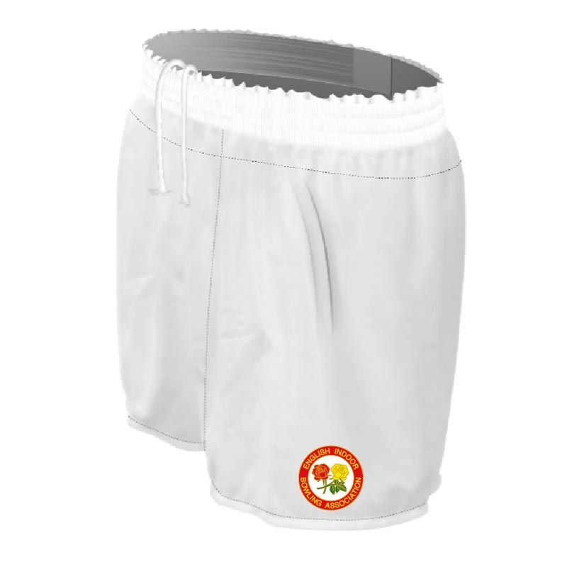 England Indoor Bowls Association Bailey Shorts (White)