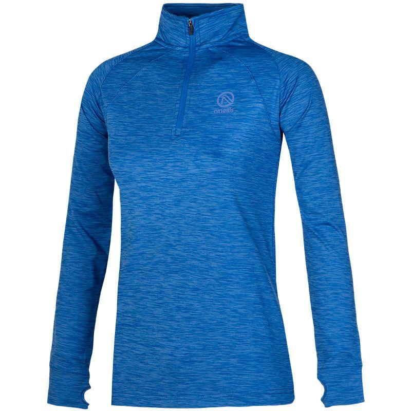 Women's Esme Brushed Midlayer Half Zip Top Blue