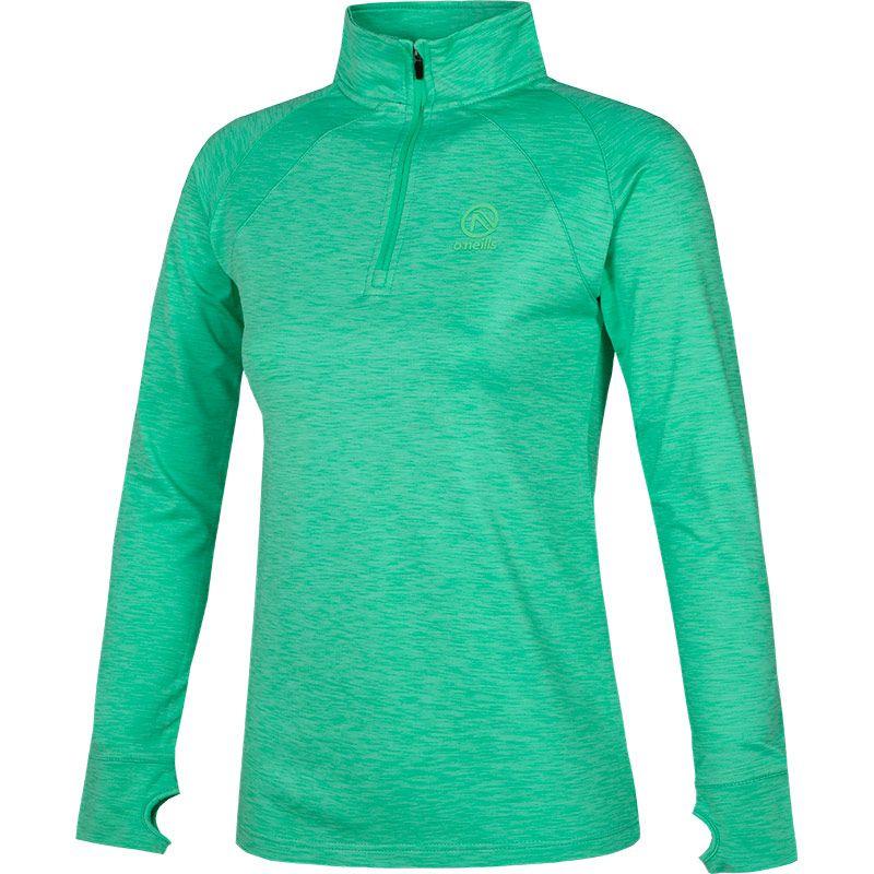 Women's Esme Brushed Half Zip Top Green