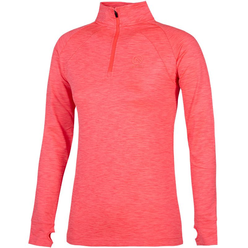 Kids' Esme Brushed Half Zip Top Pink