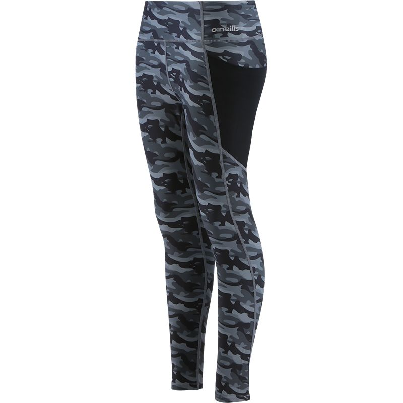 Women's Esme 7/8 Length Tights Camouflage Black