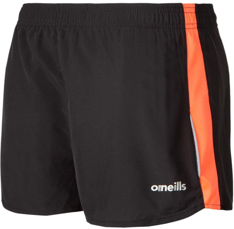 Women's Esme Athletic Shorts Black / Orange