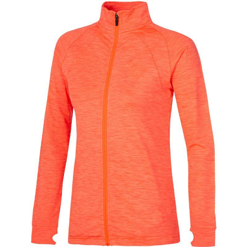 Women's Esme Brushed Full Zip Top Orange