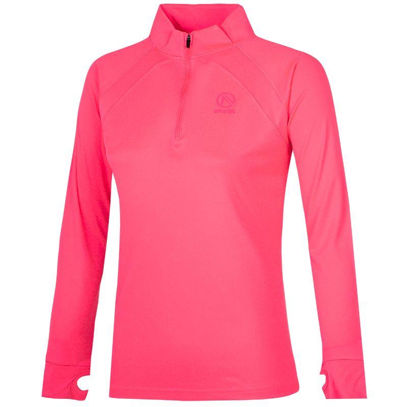 Women's Esme Midlayer Half Zip Training Top Pink