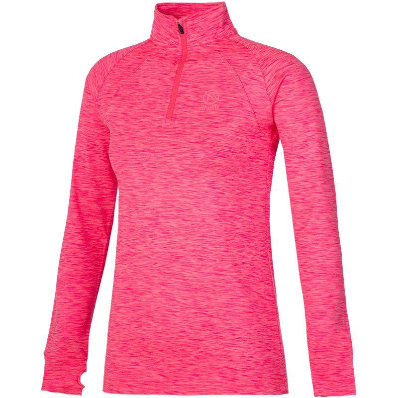 Women's Esme Brushed Midlayer Half Zip Top Pink