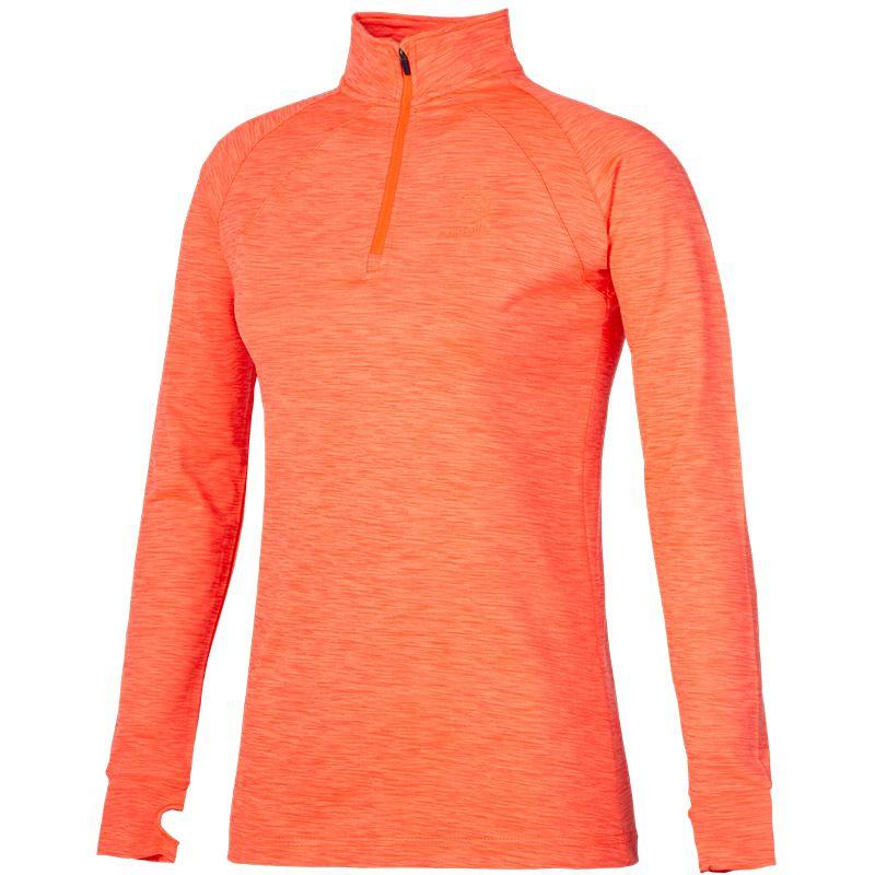 Women's Esme Brushed Midlayer Half Zip Top Orange