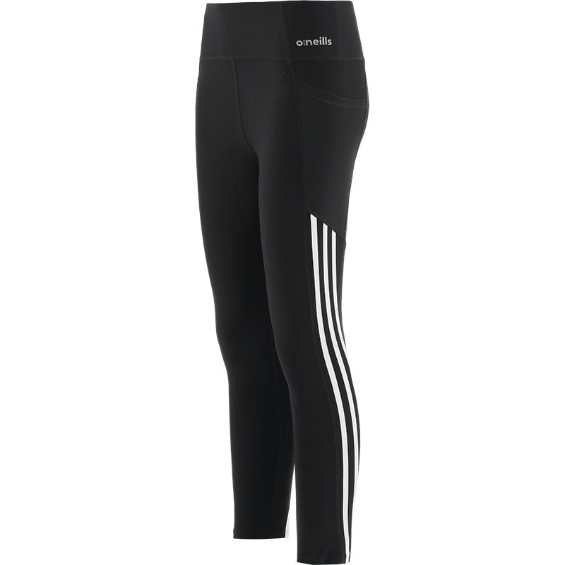 Women's Esme 3 Stripe 7/8 Length Tights Black / White