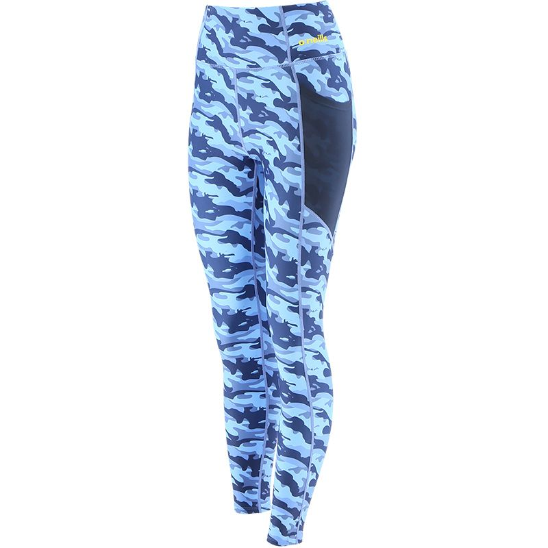 Women's Esme 7/8 Length Tights Camouflage Blue