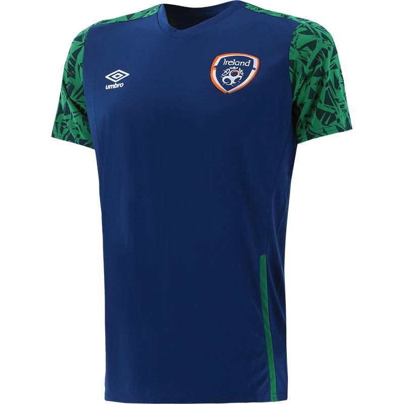 Umbro Republic of Ireland 2021 Men's Training Jersey Navy / Pine Green