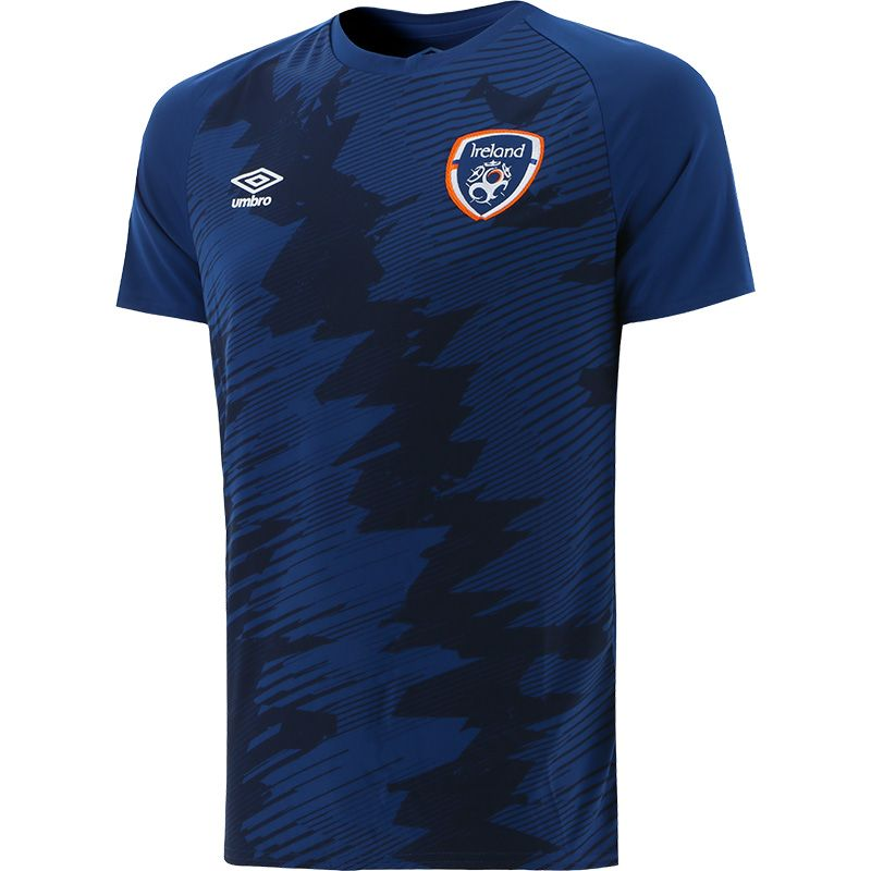 Umbro Republic of Ireland 2021 Kids' Graphic T-Shirt Navy