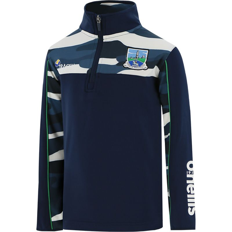 Fermanagh GAA Kids' Bobby Brushed Half Zip Top Marine / Multi / Green