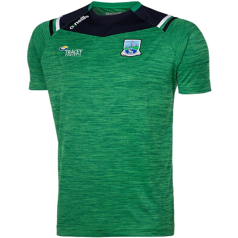 Fermanagh GAA Colorado 2S T-Shirt (Melange Tonal Bottle/Marine/White) (Kids)