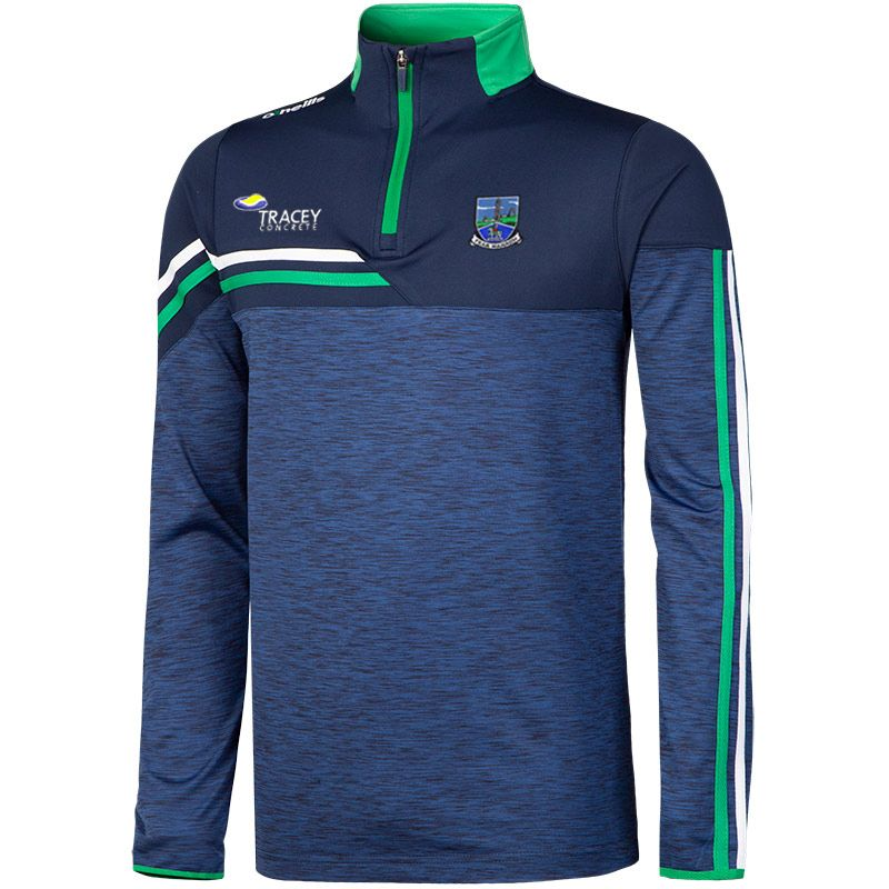Fermanagh GAA Men's Nevis Brushed Midlayer Half Zip Top Marine / White