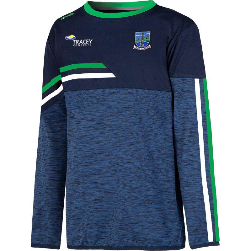 Fermanagh GAA Kids' Nevis Brushed Sweatshirt Marine / Green