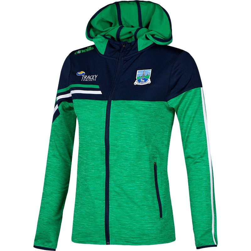 Fermanagh GAA Women's Nevis  Brushed Full Zip Hoodie Green / Marine