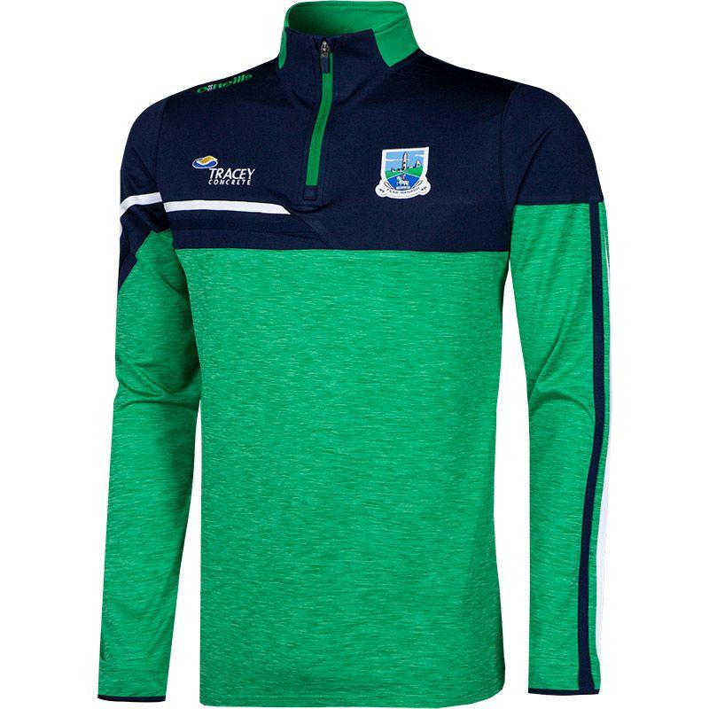 Fermanagh GAA Men's Nevis Brushed Midlayer Half Zip Top Green / Marine / Green