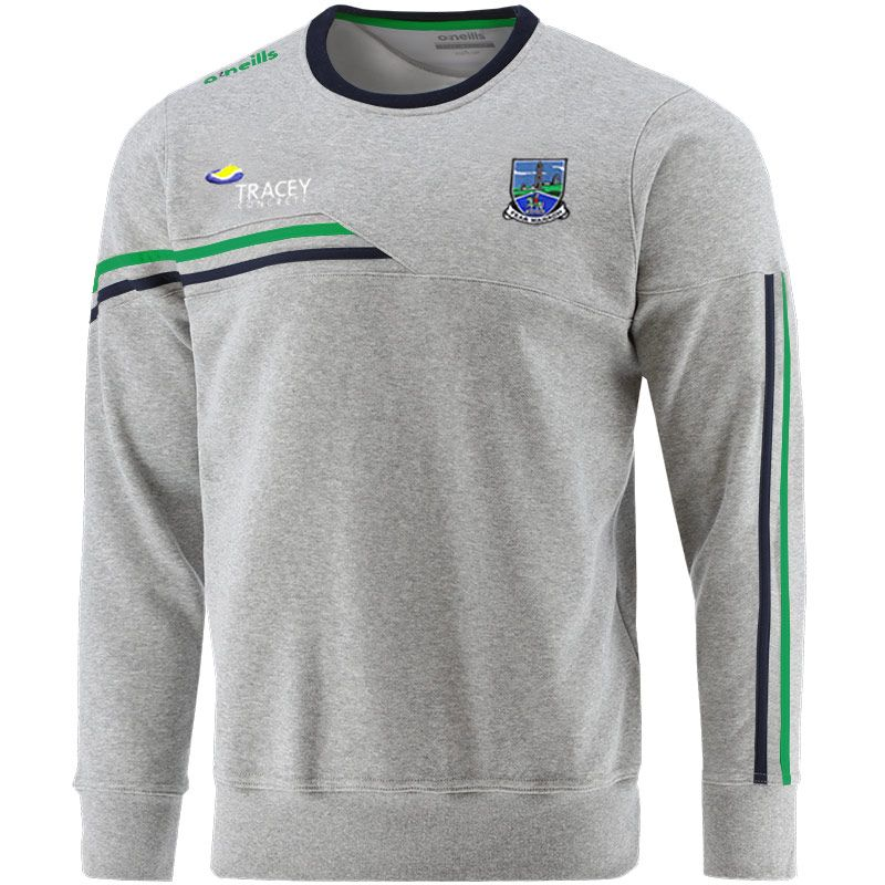 Fermanagh GAA Men's Nevis Crew Neck Sweatshirt Grey / Marine / Green