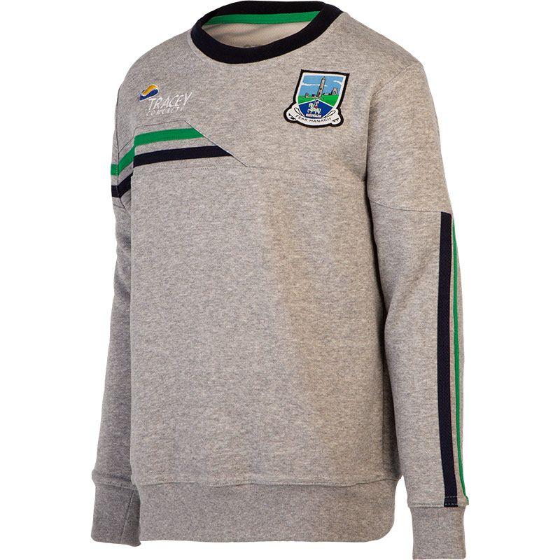 Fermanagh GAA Kids' Nevis Crew Neck Sweatshirt Grey / Marine / Green