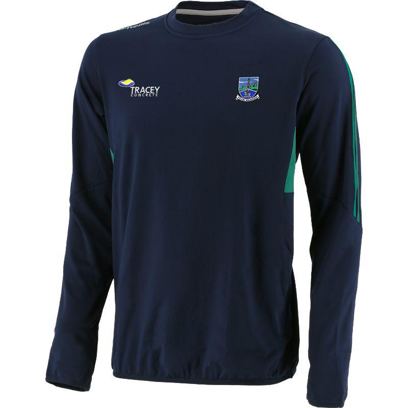Fermanagh GAA Kids' Raven Brushed Crew Neck Marine / Green / Silver