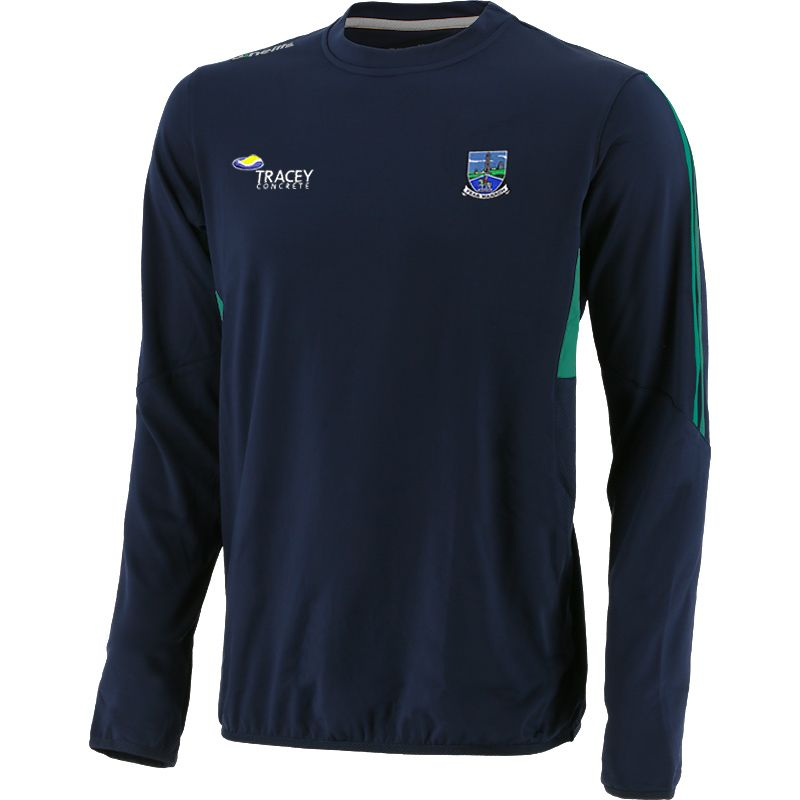 Fermanagh GAA Men's Raven Brushed Crew Neck Marine / Green / Silver