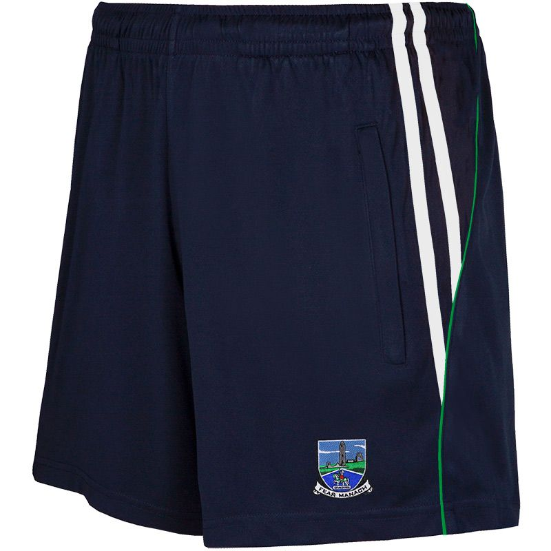 Fermanagh GAA Solar 2S Poly Shorts (Marine/White/Emerald)