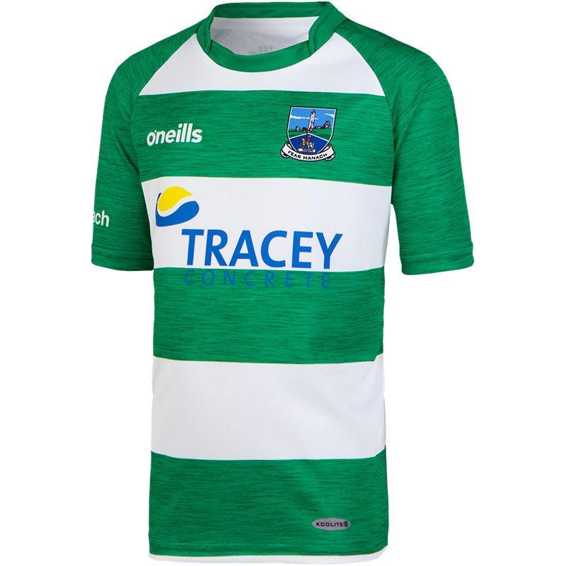 Fermanagh GAA Kids' Hooped Training Short Sleeve Top