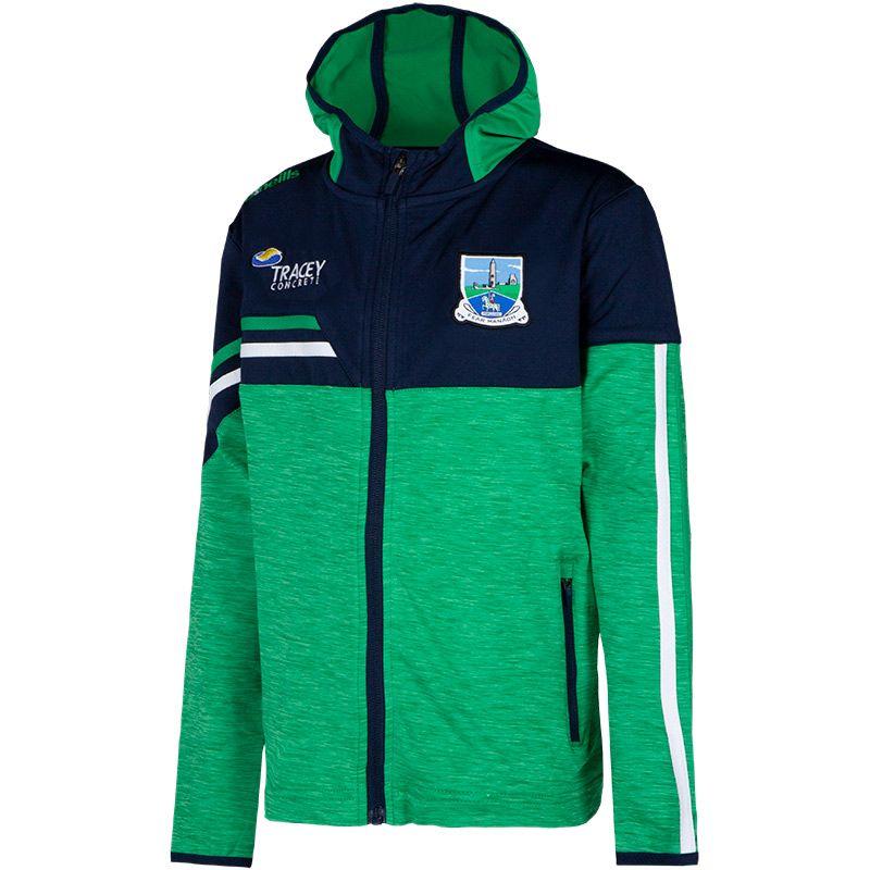 Fermanagh GAA Kids' Nevis Brushed Full Zip Hoodie Green / Marine