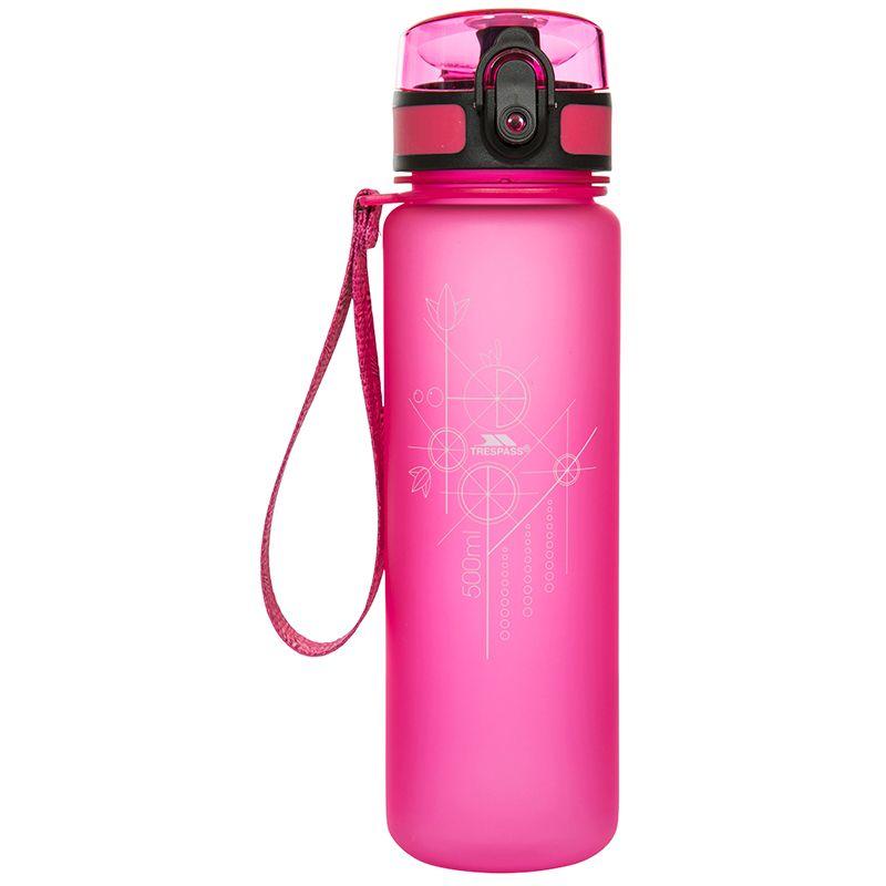 Trespass Flip Lid Bottle Pink Glow