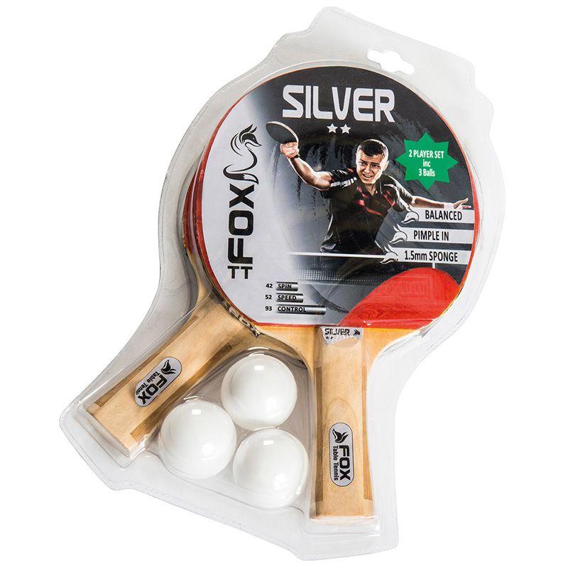Fox TT Silver 2 Player Table Tennis Set